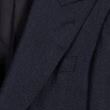 Load image into Gallery viewer, Navy Check Flannel Single-Breasted Blazer Suit