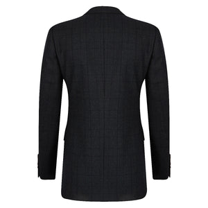 Green Check Double Breasted Blazer