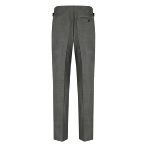 Grey Wool Contemporary Suit Trousers