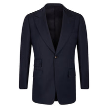 Load image into Gallery viewer, Navy Worsted Three-Piece Suit