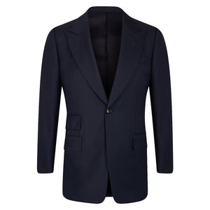 Navy Worsted Three-Piece Suit