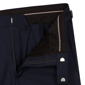 Navy Worsted Contemporary Suit Trousers