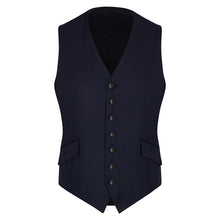 Load image into Gallery viewer, Navy Worsted Single Breasted Waistcoat