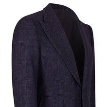 Load image into Gallery viewer, Blue Houndstooth Single Breasted Sports Jacket