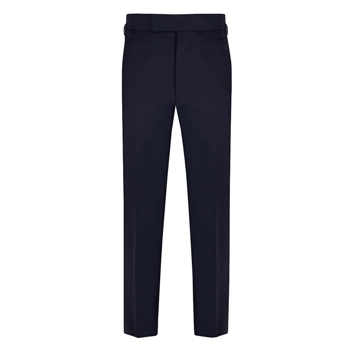 Navy Gabardine Contemporary Trousers
