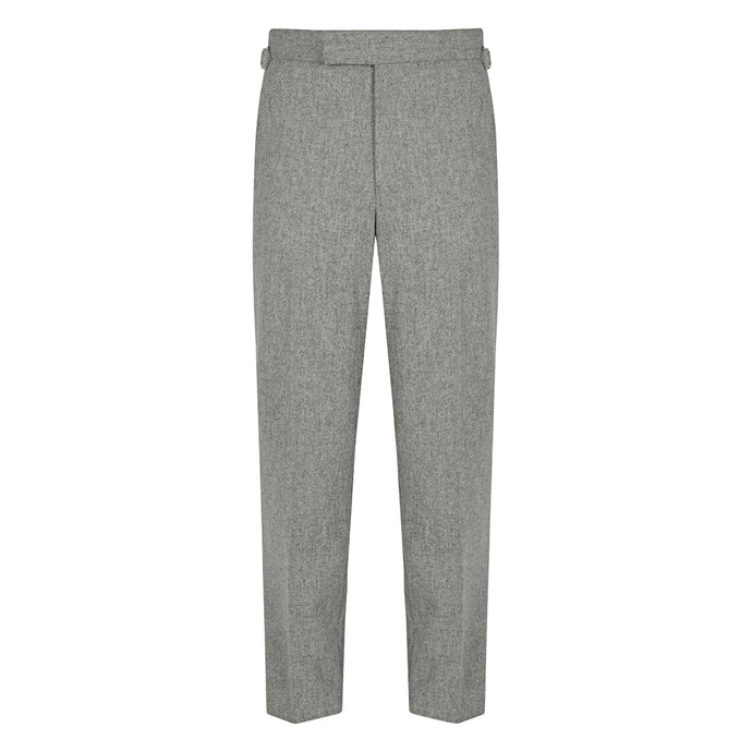 Silver Flannel Contemporary Trousers