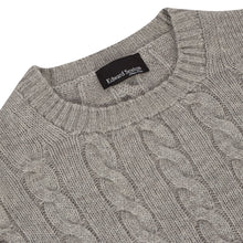 Load image into Gallery viewer, Grey Cashmere Cableknit