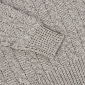 Grey Cashmere Cableknit