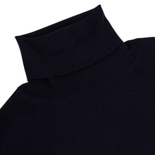 Load image into Gallery viewer, Navy Cashmere Rollneck