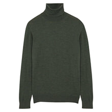 Load image into Gallery viewer, Green Merino Roll Neck
