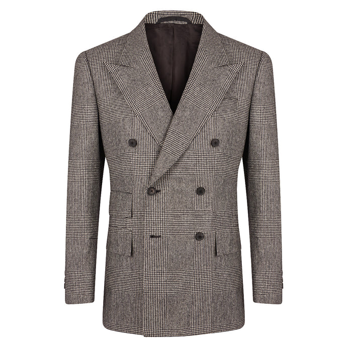 Grey Flannel Prince of Wales Double Breasted Sports Jacket