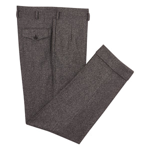 Mottled Charcoal Grey Hollywood Trousers