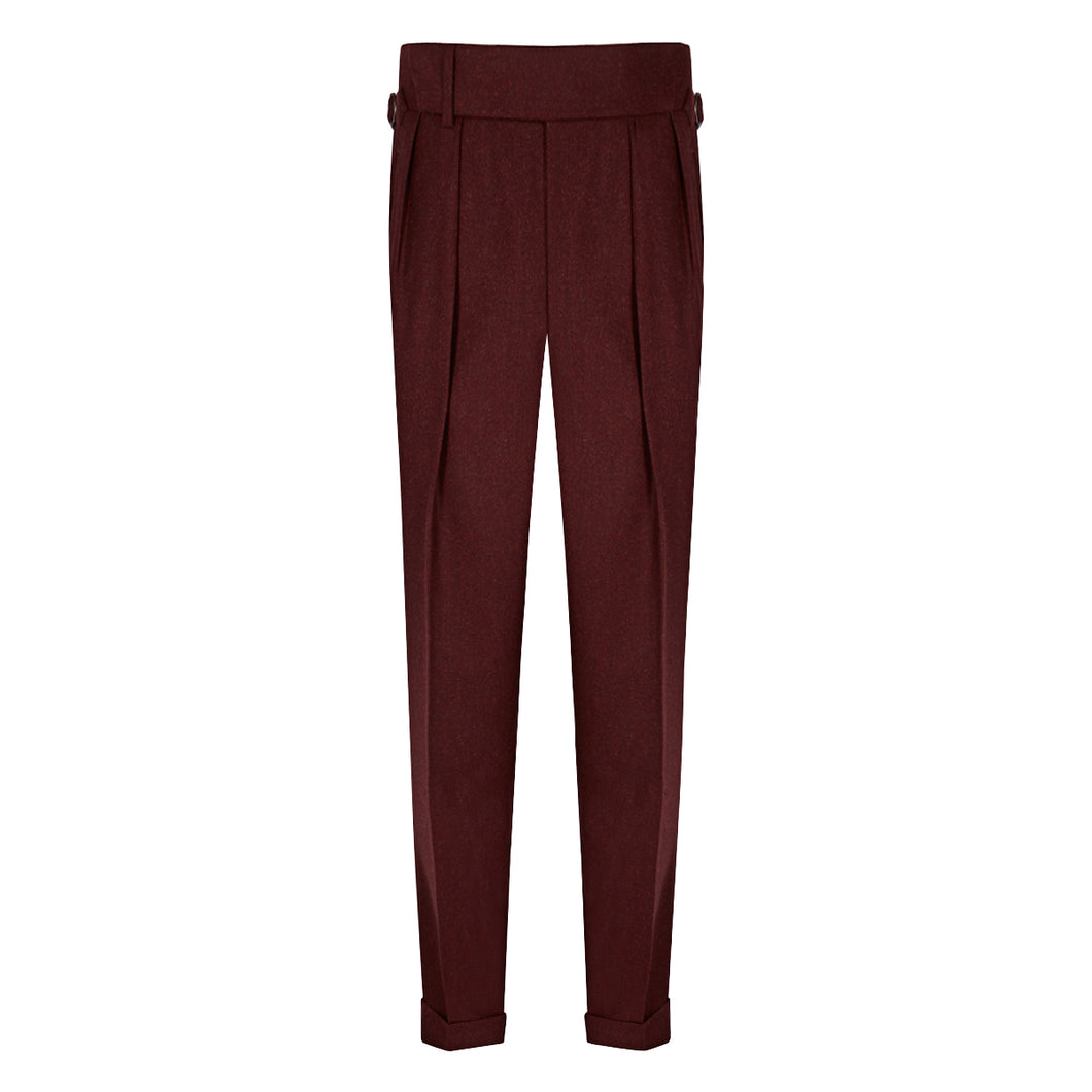 Burgundy Flannel House Trousers