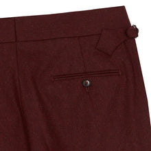 Load image into Gallery viewer, Burgundy Flannel House Trousers