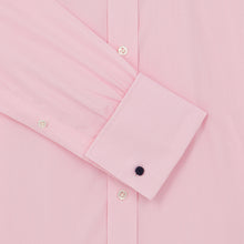 Load image into Gallery viewer, Pink Micro-check Cotton Pin Collar Shirt