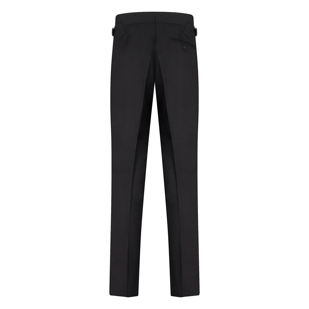 Black Linen Contemporary Trousers