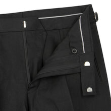 Load image into Gallery viewer, Black Linen Contemporary Trousers