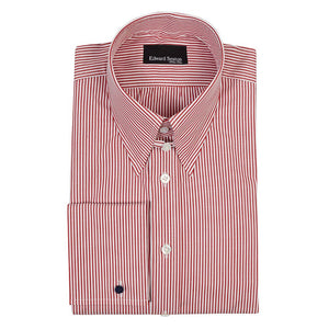 Crimson Bengal Tab Collar Silm-Fit Shirt