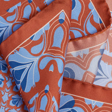 Load image into Gallery viewer, Copper and Blue Silk Hankie