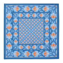 Load image into Gallery viewer, Blue and Ochre Silk Hankie