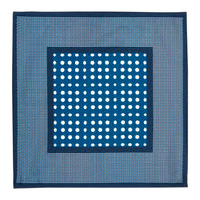 Load image into Gallery viewer, Royal Blue Dot Silk Hankie