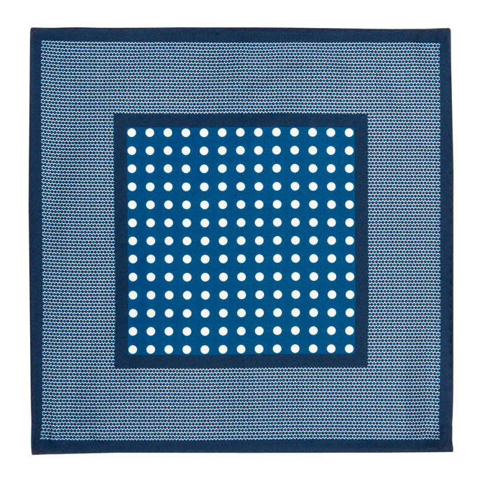 Royal Blue Dot Silk Hankie