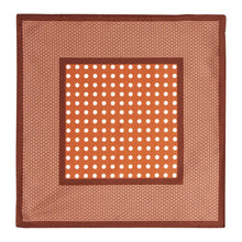 Load image into Gallery viewer, Copper Dot Silk Hankie