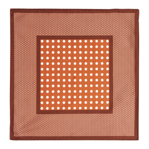Copper Dot Silk Hankie