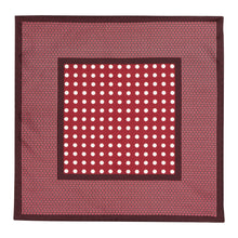 Load image into Gallery viewer, Burgundy Dot Silk Hankie