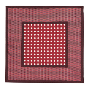 Burgundy Dot Silk Hankie