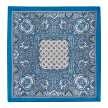 Load image into Gallery viewer, Blue Silk Paisley Hankie