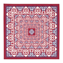 Load image into Gallery viewer, Burgundy and Grey Abstract Silk Hankie