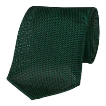 Load image into Gallery viewer, Forest Green Silk Grenadine Seven Fold Tie