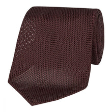 Load image into Gallery viewer, Burgundy Silk Grenadine Seven Fold Tie