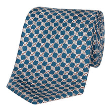 Load image into Gallery viewer, Marine Blue Knot Silk Tie