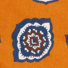 Load image into Gallery viewer, Orange Petal Paisley Silk and Linen Tie