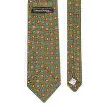 Load image into Gallery viewer, Leaf Green Floral Silk and Linen Tie