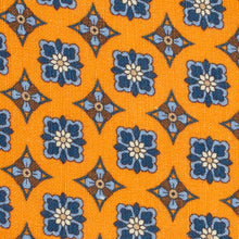 Load image into Gallery viewer, Orange Floral Silk and Linen Tie
