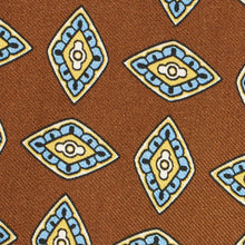 Load image into Gallery viewer, Chocolate Brown Geometric Silk Tie