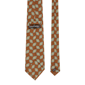 Chocolate Brown Geometric Silk Tie