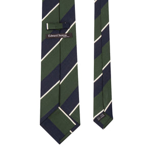 Green and Navy Stripe Tie