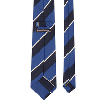 Load image into Gallery viewer, Blue and Navy Stripe Tie