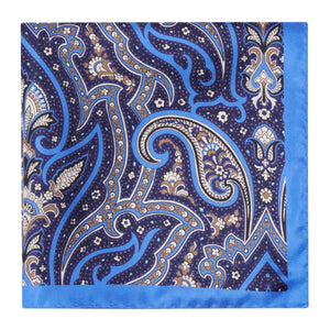 Blue and Purple Floral Hankie