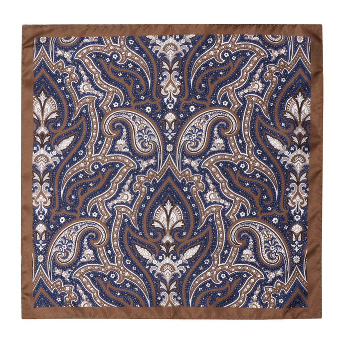 Chocoale and Navy Paisley Hankie
