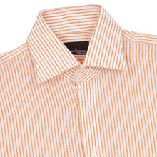 Load image into Gallery viewer, Orange Stripe Linen Sexton Shirt