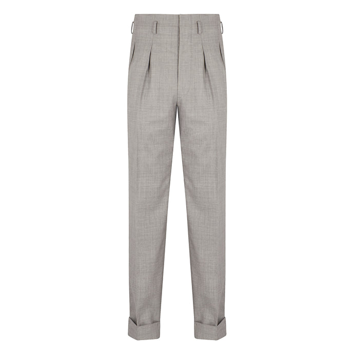 Silver Grey Hollywood Trousers