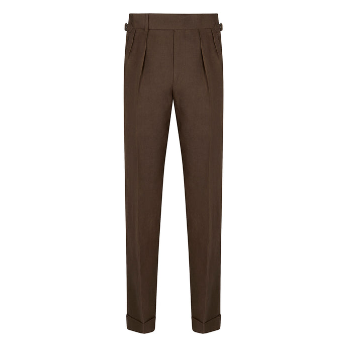 Chocolate Linen House Trousers
