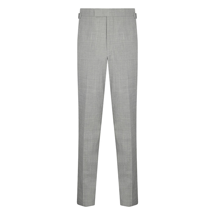 Silver Grey High Twist Contemporary Trousers