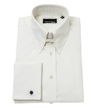 Load image into Gallery viewer, cream-tab-collar-shirt