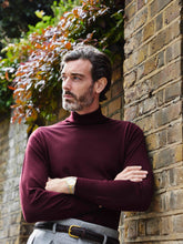 Load image into Gallery viewer, edward_sexton_burgundy_roll_neck